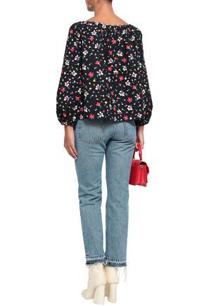 MARC JACOBS Floral-print stretch-cotton tunic