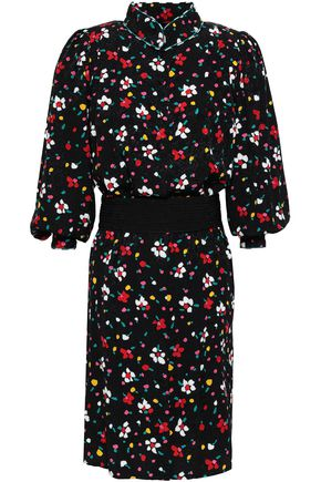 MARC JACOBS Floral silk-jacquard mini dress