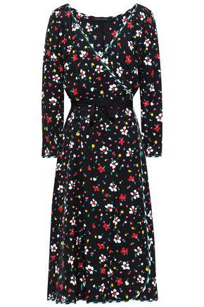 MARC JACOBS Floral silk-jacquard midi wrap dress