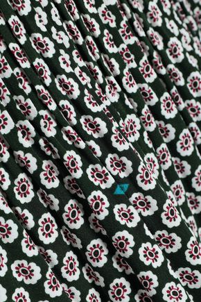 MAJE Printed cady mini dress