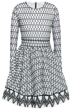 MAJE Flared crocheted mini dress