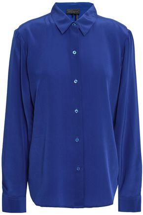 DONNA KARAN Silk crepe de chine shirt