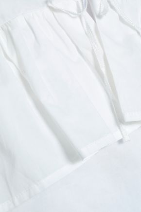 MAJE Ruffled cotton-poplin blouse