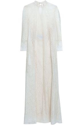 VALENTINO GARAVANI Cotton-blend lace maxi dress