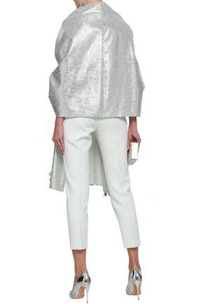 DELPOZO Metallic jacquard jacket