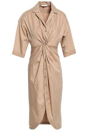 MAJE Twist-front cotton dress