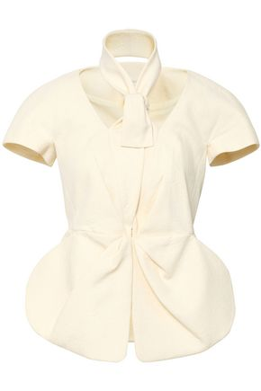 DELPOZO Cotton-jacquard peplum jacket