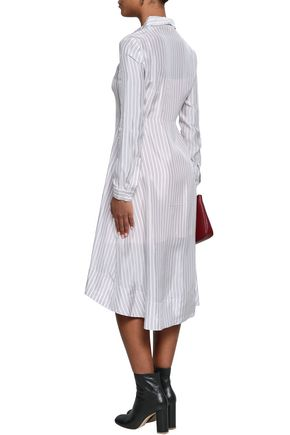 MAJE Striped woven shirt dress