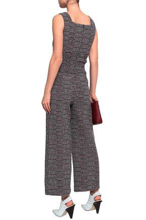 MAJE Cotton-blend tweed jumpsuit