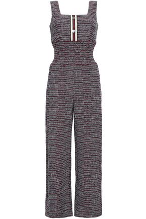 MAJE Cotton-blend tweed jumpsuit