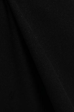 VALENTINO Wool-felt midi dress