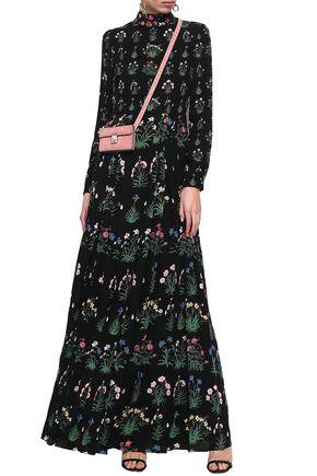 bcb5eb2dc73e07 VALENTINO Pleated floral-print silk crepe de chine gown
