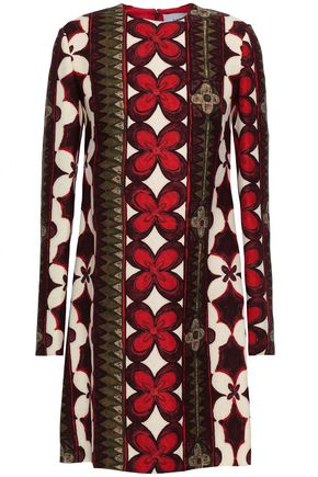 VALENTINO GARAVANI Wool and silk-blend crepe mini dress