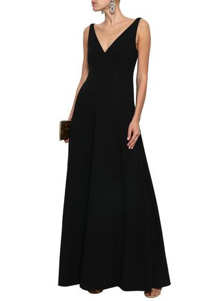 VALENTINO Wool-crepe gown