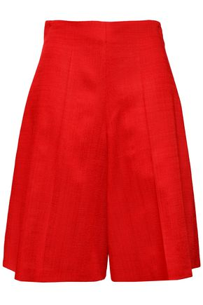 DELPOZO Pleated woven shorts