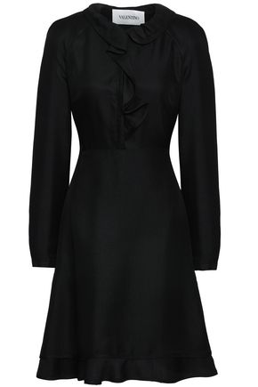 VALENTINO Fluted ruffled silk dress