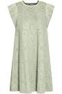 VALENTINO Fluted pointelle-knit mini dress