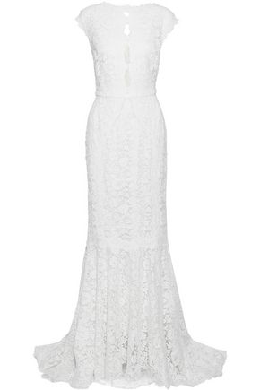 DOLCE & GABBANA Crystal-embellished corded lace gown