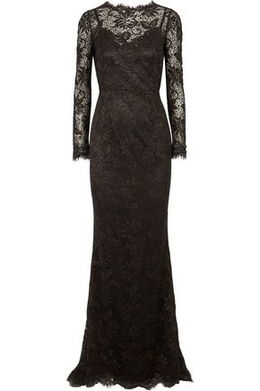 DOLCE & GABBANA Metallic corded lace gown