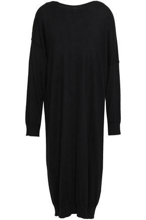 VALENTINO Wool and cashmere-blend midi dress