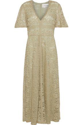 VALENTINO GARAVANI Metallic lace midi dress