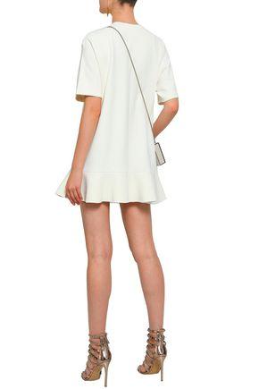 VALENTINO Fluted stretch-knit mini dress