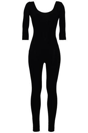 VALENTINO Open-back stretch-knit jumpsuit