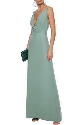 VALENTINO Open-back silk-crepe gown