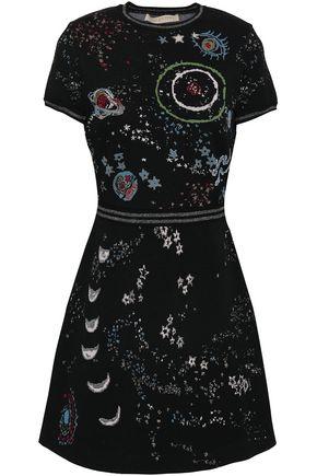 VALENTINO Jacquard-knit mini dress