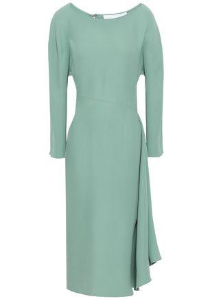 b2c82daf3f2 VALENTINO Draped silk-crepe midi dress