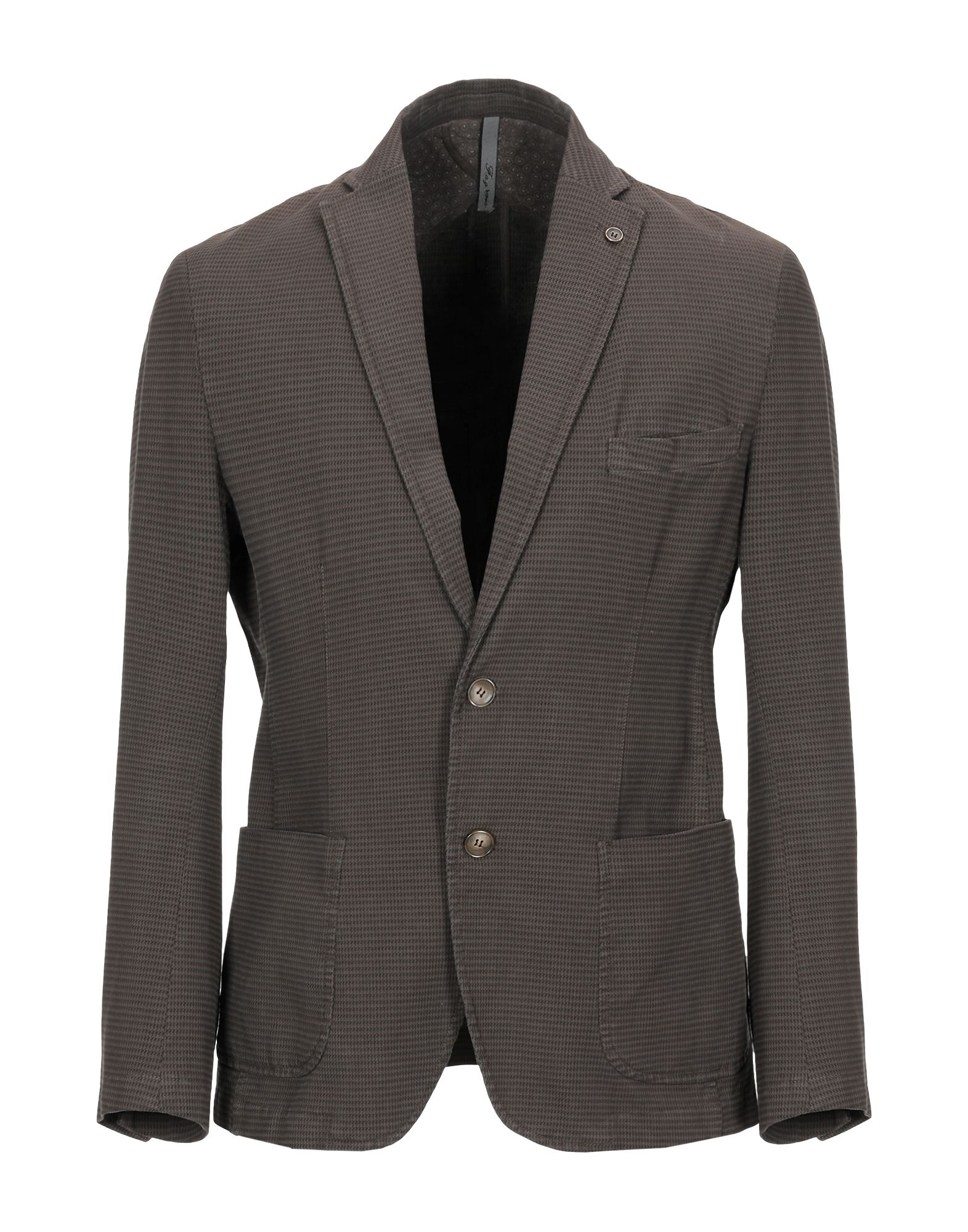 《セール開催中》F.A.G. HOMME メンズ テーラードジャケット ダークブラウン 48 コットン 97% / ポリウレタン 3%