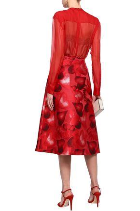 VALENTINO Pussy-bow silk-chiffon blouse