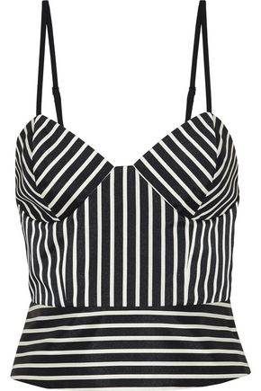 MICHELLE MASON Striped ottoman bustier top