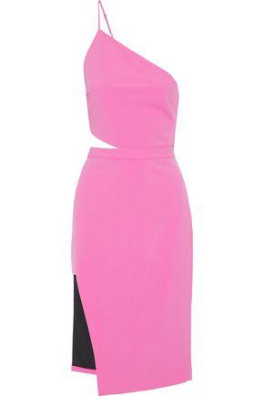 MICHELLE MASON One-shoulder cutout cady dress