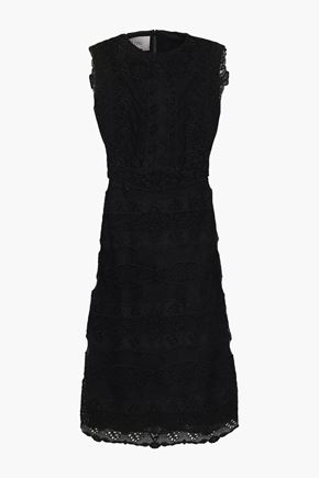 VALENTINO Virgin wool and silk-blend lace dress