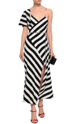 ed7855c82f63 MICHELLE MASON Cape-effect polka-dot silk crepe de chine midi dress