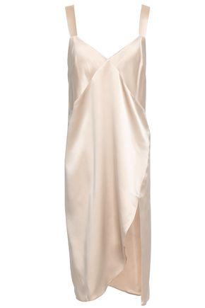 MICHELLE MASON Split-front silk-charmeuse dress