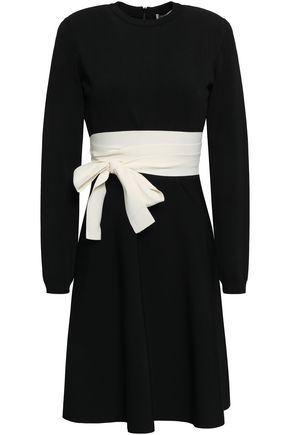 VALENTINO Belted stretch-knit dress