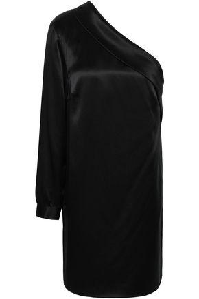 MICHELLE MASON One-shoulder silk-charmeuse mini dress