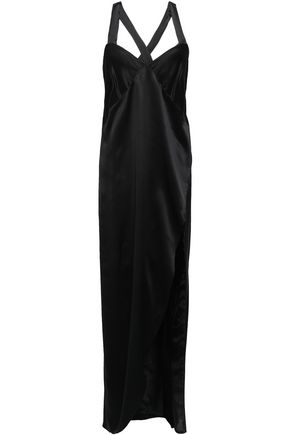 MICHELLE MASON Split-front silk-charmeuse maxi dress