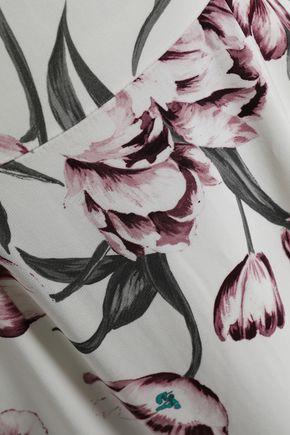 0d6eebf09c ... GOAT Floral-print stretch-knit midi dress ...