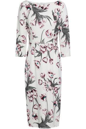 8a4a19de53 GOAT Floral-print stretch-knit midi dress