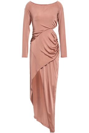 MICHELLE MASON Cutout ruched jersey dress