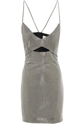 MICHELLE MASON Cutout lamé mini dress