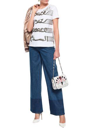 718f4669c9c9 VALENTINO Embellished cotton-jersey T-shirt