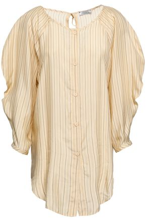 NINA RICCI Striped twill blouse