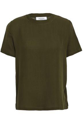 VALENTINO Silk-crepe T-shirt