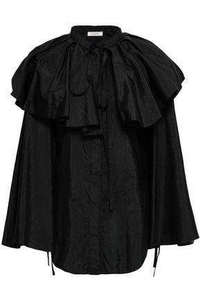 NINA RICCI Convertible taffeta blouse