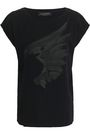 VALENTINO Embossed cotton-jersey T-shirt