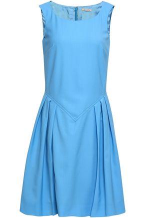 NINA RICCI Pleated wool dress